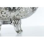 Patera z wkładem szklanym, 2-elementowa, Niemcy srebrna - klasycystyczna
