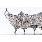 """Żardiniera typ """"gondola"""", srebrna, Hiszpania, kolonialna – eklektyczna"""