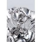 Patera z syreną, trójdzielna, srebrna, Anglia – eklektyczna