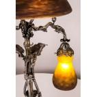Lampa stojąca, reprezentacyjna Grand Verrerie de Croismare  Freres Muller, Francja–secesja.