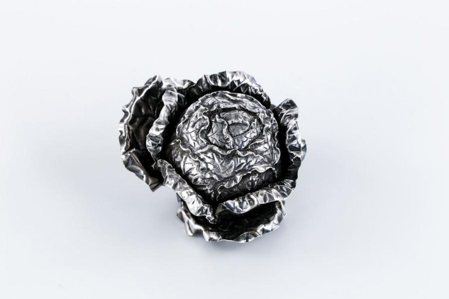 Kapusta/Sałata zdobnicza,  srebrna, Włochy– sztuka świata