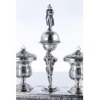 Kałamarz z Napoleonem, srebrny,Hiszpania-eklektyczny.