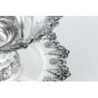 Patera dwupoziomowa koszykowa, typ owocarka, srebrna Portugalia – klasycystyczna.