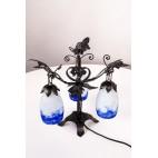 Lampka stojąca nocna forma małego drzewka Francja – secesyjna.