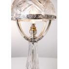 Lampka H. Adradas stojąca, srebrno–kryształowa, salonowa, Hiszpania – secesyjna.