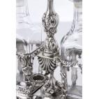 Kabaret Martial Fray na  przyprawy, 2 karafki szklane, srebrny, Paryż – eklektyczny