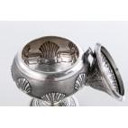 Potpourri, zapachownik kryty, otwierany, styl bizantyjski,  srebrny – sztuka świata.