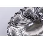 Paterka / tacka filigranowa, srebrna, Włochy - postmodernistyczna.